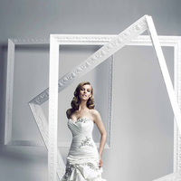 Wedding Dresses, Sweetheart Wedding Dresses, A-line Wedding Dresses, Fashion, Sweetheart, Strapless, Strapless Wedding Dresses, A-line, Beading, Beadwork, Simone carvalli, chapel train, dropped waist, pleated bodice, tiered skirt, Beaded Wedding Dresses, silk taffeta