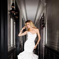 Wedding Dresses, Sweetheart Wedding Dresses, Fashion, Sweetheart, Strapless, Strapless Wedding Dresses, Organza, Simone carvalli, ruffled skirt, Asymmetrical ruching, organza wedding dresses