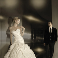 Wedding Dresses, Sweetheart Wedding Dresses, A-line Wedding Dresses, Fashion, Sweetheart, Strapless, Strapless Wedding Dresses, A-line, Simone carvalli, dropped waist, ruched bodice, folded skirt