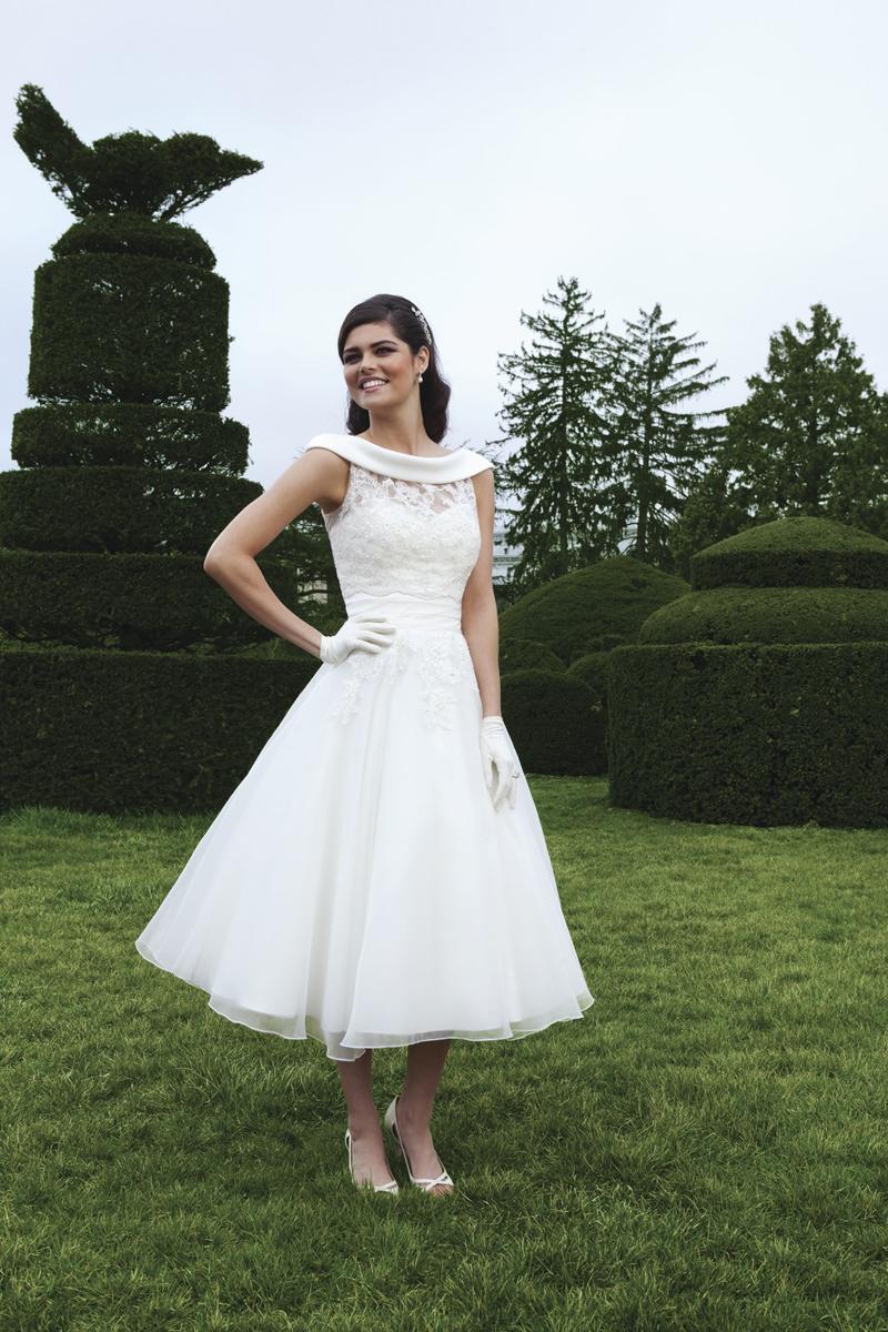 Wedding Dresses, Lace Wedding Dresses, Fashion, Lace, Tea-length, Sleeveless, Sincerity, lace skirt, bateau jacket