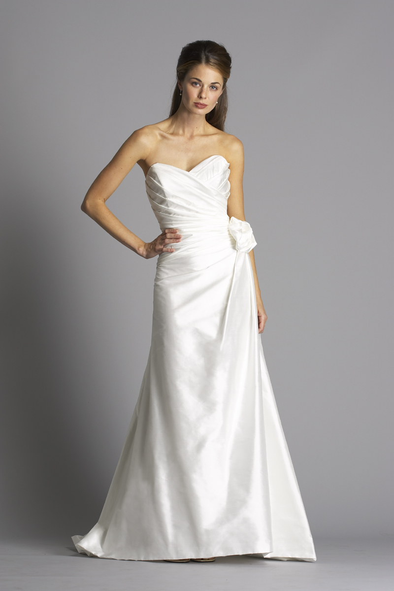 Wedding Dresses, Sweetheart Wedding Dresses, A-line Wedding Dresses, Fashion, white, ivory, Classic, Sweetheart, Strapless, Strapless Wedding Dresses, A-line, Satin, Floor, Organza, Ruching, Shantung, organza wedding dresses, Classic Wedding Dresses, siri bridal, satin wedding dresses, Floor Wedding Dresses, Shantung Wedding Dresses