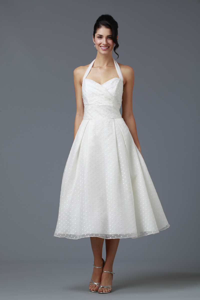 Wedding Dresses, Sweetheart Wedding Dresses, A-line Wedding Dresses, Beach Wedding Dresses, Fashion, white, ivory, Beach, Shabby Chic, Sweetheart, A-line, Halter, Short, Tea, Organza, Informal, Tea Length Wedding Dresses, Short Wedding Dresses, halter wedding dresses, organza wedding dresses, siri bridal, Informal Wedding Dresses, Shabby Chic Wedding Dresses