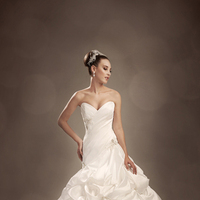 Wedding Dresses, Strapless, Beading, Satin, Sophia Tolli, Ball gown, bridal fashion, lace applique