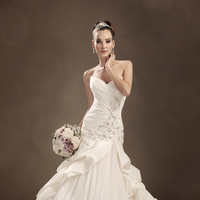 Wedding Dresses, A-line, Tulle, Chapel, Taffeta, Sophia Tolli, bridal fashion