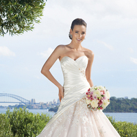 Wedding Dresses, Sweetheart, Strapless, Corset, Crystal, Applique, Chapel, Sophia Tolli, bridal fashion