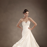 Wedding Dresses, Sweetheart, Strapless, A-line, Corset, Satin, Sophia Tolli, bridal fashion