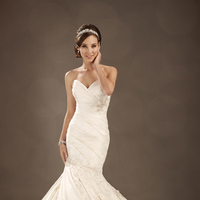 Wedding Dresses, Sweetheart, Strapless, Beading, Corset, Crystal, Organza, Sophia Tolli, bridal fashion