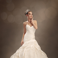 Wedding Dresses, Lace, Sweetheart, Strapless, A-line, Beading, Corset, Sophia Tolli, bridal fashion