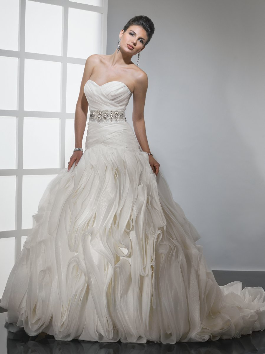 Wedding Dresses, Sweetheart Wedding Dresses, Ball Gown Wedding Dresses, Fashion, white, ivory, Spring, Fall, Sweetheart, Strapless, Strapless Wedding Dresses, Beading, Tulle, Floor, Organza, Sleeveless, Ball gown, Sottero & Midgley, Avant-Garde, Beaded Wedding Dresses, organza wedding dresses, Spring Wedding Dresses, tulle wedding dresses, Fall Wedding Dresses, Floor Wedding Dresses
