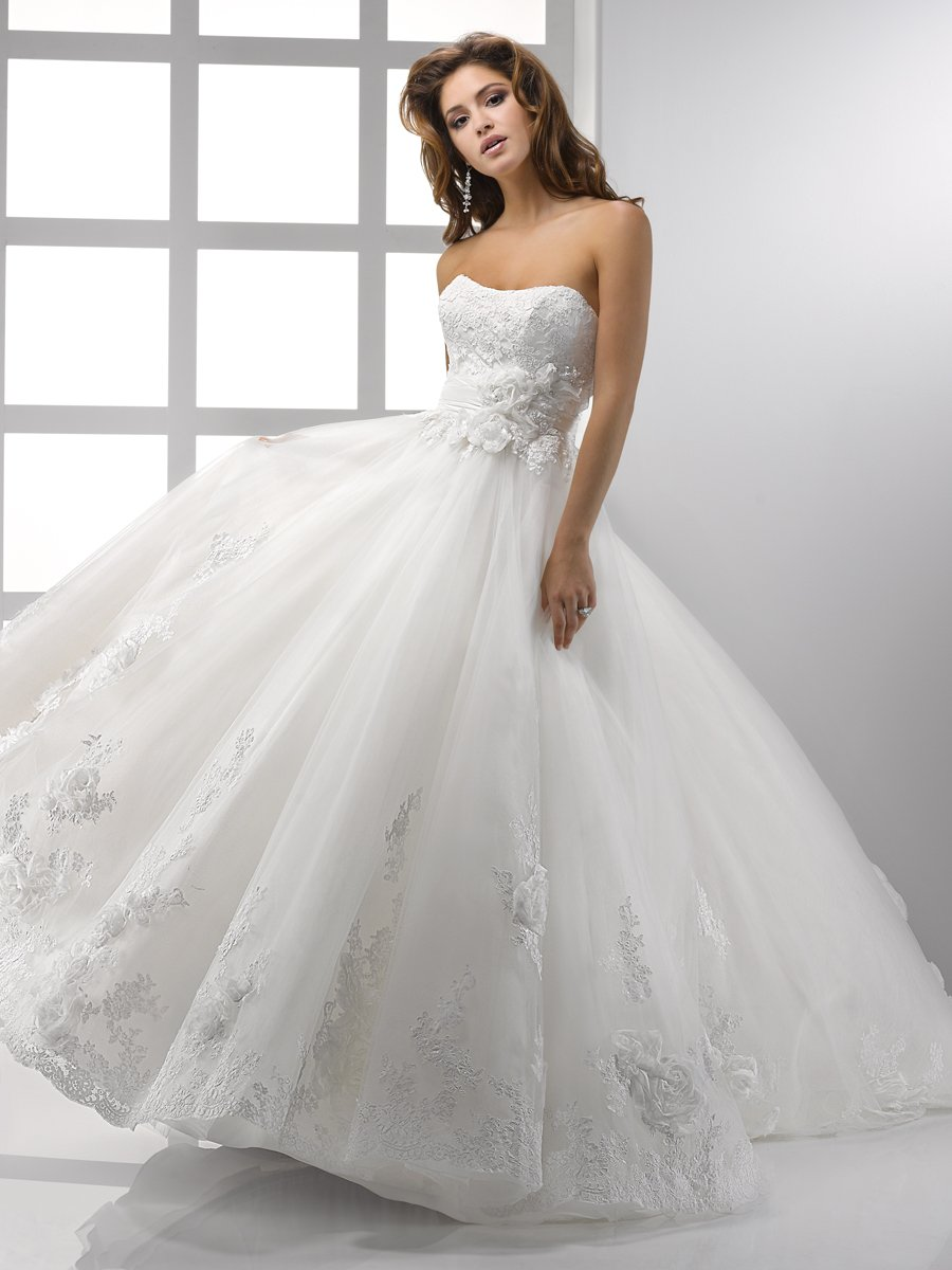 Wedding Dresses, Sweetheart Wedding Dresses, Ball Gown Wedding Dresses, Lace Wedding Dresses, Romantic Wedding Dresses, Fashion, white, ivory, Flowers, Romantic, Lace, Sweetheart, Strapless, Strapless Wedding Dresses, Beading, Floor, Formal, Scoop, Sleeveless, Ball gown, Sottero & Midgley, Sash/Belt, Beaded Wedding Dresses, Flower Wedding Dresses, Formal Wedding Dresses, Scoop Neckline Wedding Dresses, Floor Wedding Dresses, Sash Wedding Dresses, Belt Wedding Dresses