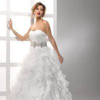 Wedding Dresses, Ball Gown Wedding Dresses, Ruffled Wedding Dresses, Fashion, white, ivory, Strapless, Strapless Wedding Dresses, Beading, Floor, Organza, Ruffles, Scoop, Sleeveless, Ball gown, Sottero & Midgley, Avant-Garde, Beaded Wedding Dresses, organza wedding dresses, Scoop Neckline Wedding Dresses, Floor Wedding Dresses