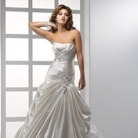 Wedding Dresses, A-line Wedding Dresses, Lace Wedding Dresses, Hollywood Glam Wedding Dresses, Fashion, white, ivory, Lace, Strapless, Strapless Wedding Dresses, A-line, Beading, Satin, Floor, Scoop, Dropped, Pleats, Sleeveless, Ruching, Sottero & Midgley, hollywood glam, Beaded Wedding Dresses, satin wedding dresses, Scoop Neckline Wedding Dresses, Floor Wedding Dresses