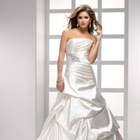 Wedding Dresses, A-line Wedding Dresses, Fashion, white, ivory, silver, Modern, Strapless, Strapless Wedding Dresses, A-line, Beading, Satin, Floor, Pleats, Pick-ups, Sleeveless, Sottero & Midgley, Modern Wedding Dresses, Beaded Wedding Dresses, satin wedding dresses, Floor Wedding Dresses