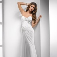 Wedding Dresses, Sweetheart Wedding Dresses, Lace Wedding Dresses, Hollywood Glam Wedding Dresses, Fashion, white, ivory, Lace, Sweetheart, Strapless, Strapless Wedding Dresses, Beading, Sheath, Floor, Chiffon, Sleeveless, Ruching, Sottero & Midgley, hollywood glam, Beaded Wedding Dresses, Sheath Wedding Dresses, Chiffon Wedding Dresses, Floor Wedding Dresses