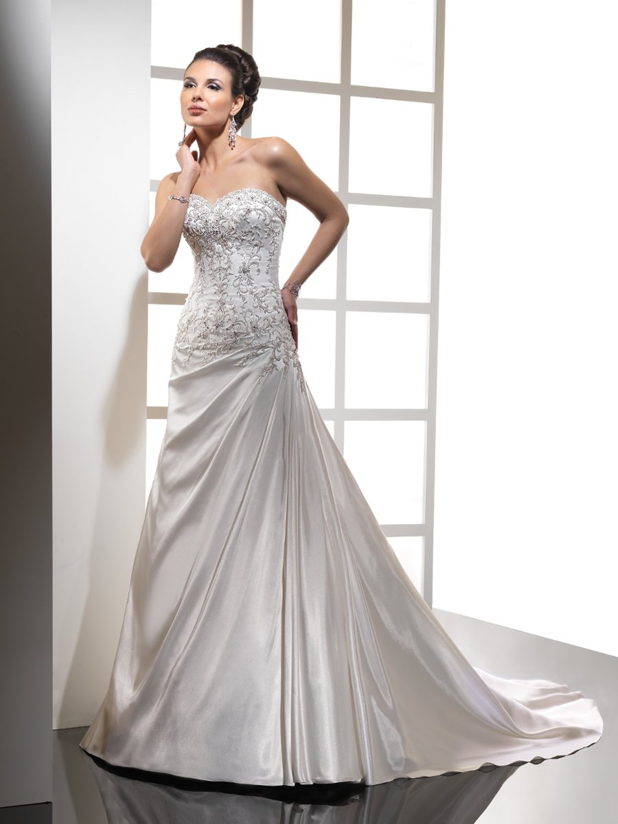 Wedding Dresses, Sweetheart Wedding Dresses, A-line Wedding Dresses, Romantic Wedding Dresses, Hollywood Glam Wedding Dresses, Fashion, white, ivory, Spring, Summer, Fall, Winter, Romantic, Sweetheart, Strapless, Strapless Wedding Dresses, A-line, Beading, Satin, Floor, Sleeveless, Sottero & Midgley, hollywood glam, Beaded Wedding Dresses, Spring Wedding Dresses, winter wedding dresses, satin wedding dresses, Fall Wedding Dresses, Summer Wedding Dresses, Floor Wedding Dresses
