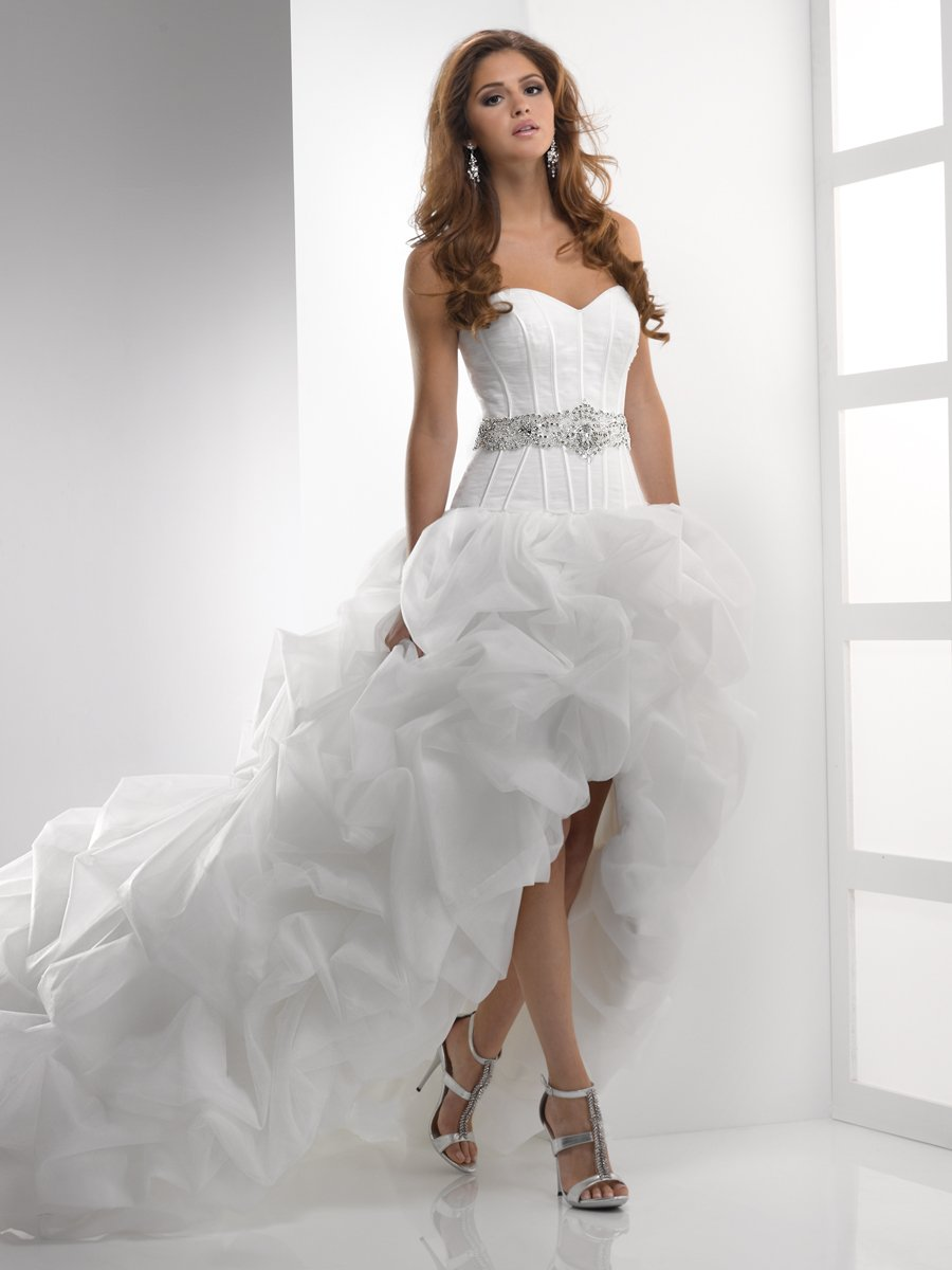 Wedding Dresses, Sweetheart Wedding Dresses, Ball Gown Wedding Dresses, Hollywood Glam Wedding Dresses, Fashion, ivory, Sweetheart, Strapless, Strapless Wedding Dresses, Beading, Organza, Pick-ups, Sleeveless, Ball gown, Sottero & Midgley, High-low, Sash/Belt, hollywood glam, Beaded Wedding Dresses, organza wedding dresses, White View Website, high-low wedding dresses, Sash Wedding Dresses, Belt Wedding Dresses