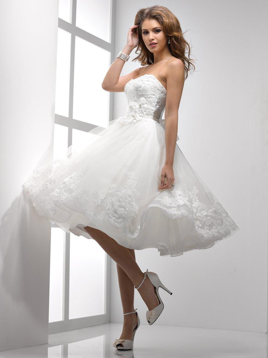 Wedding Dresses, Fashion, Strapless, Strapless Wedding Dresses, Short, Full, Sottero & Midgley, Short Wedding Dresses, ball skirt
