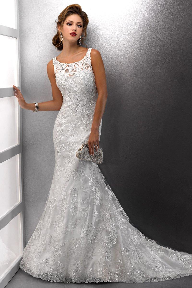 Wedding Dresses, Lace Wedding Dresses, Fashion, Classic, Lace, Scoop neck, Modest, Sleeveless, Sottero & Midgley, high-neck, High Neck Wedding Dresses, Classic Wedding Dresses, Modest Wedding Dresses