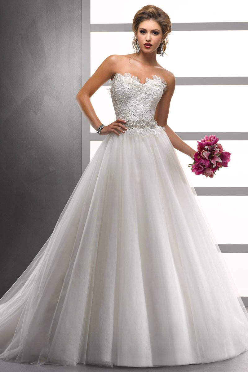 Wedding Dresses, Sweetheart Wedding Dresses, Ball Gown Wedding Dresses, Lace Wedding Dresses, Fashion, white, ivory, Winter, Lace, Sweetheart, Strapless, Strapless Wedding Dresses, Beading, Tulle, Floor, Formal, Natural, Ballroom, Ball gown, Sottero & Midgley, Beaded Wedding Dresses, tulle wedding dresses, winter wedding dresses, Formal Wedding Dresses, Floor Wedding Dresses