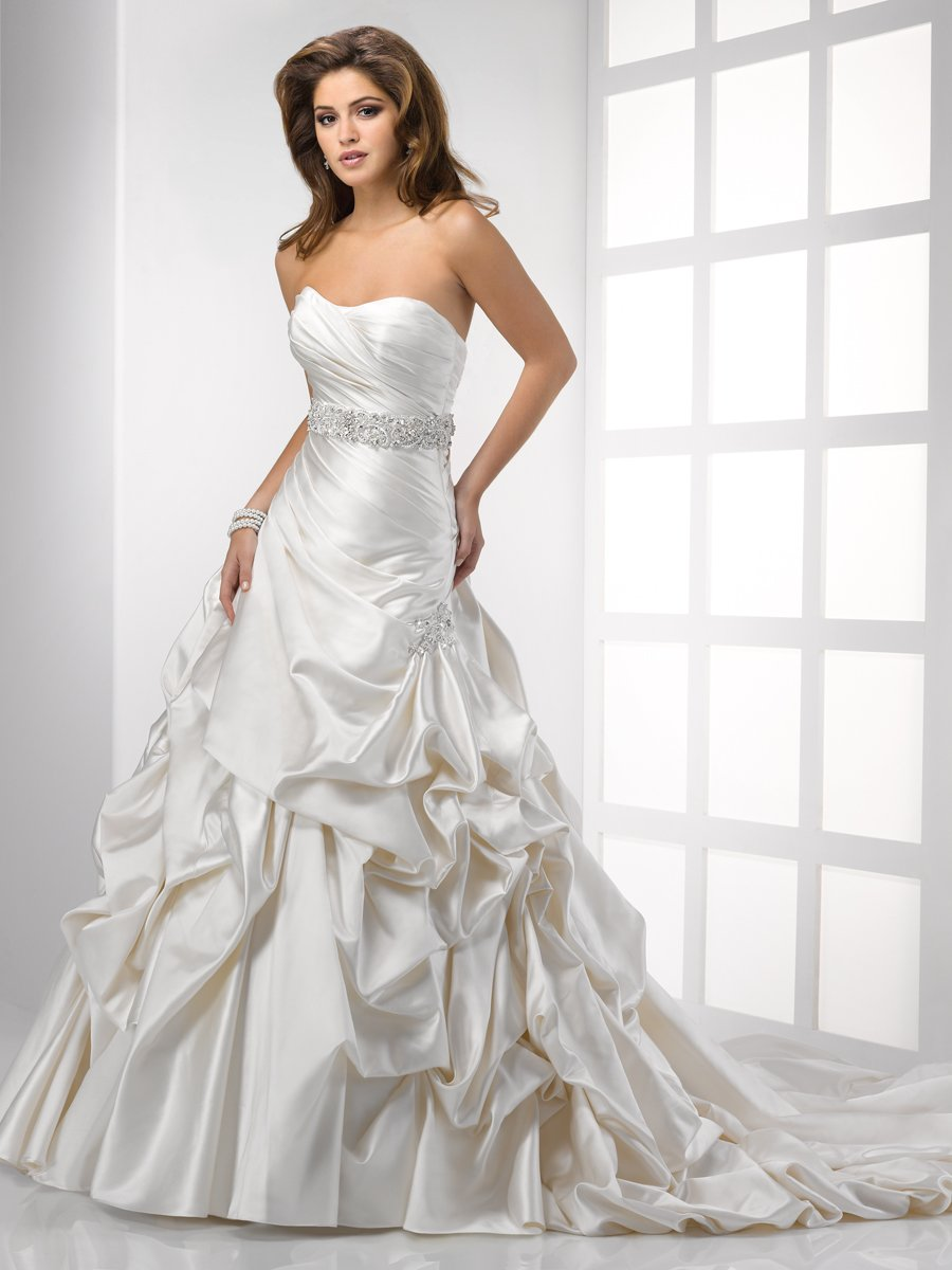 Wedding Dresses, A-line Wedding Dresses, Romantic Wedding Dresses, Fashion, white, ivory, Romantic, Strapless, Strapless Wedding Dresses, A-line, Beading, Satin, Floor, Formal, Natural, Scoop, Pick-ups, Sleeveless, Sottero & Midgley, Sash/Belt, Beaded Wedding Dresses, satin wedding dresses, Formal Wedding Dresses, Scoop Neckline Wedding Dresses, Floor Wedding Dresses, Sash Wedding Dresses, Belt Wedding Dresses