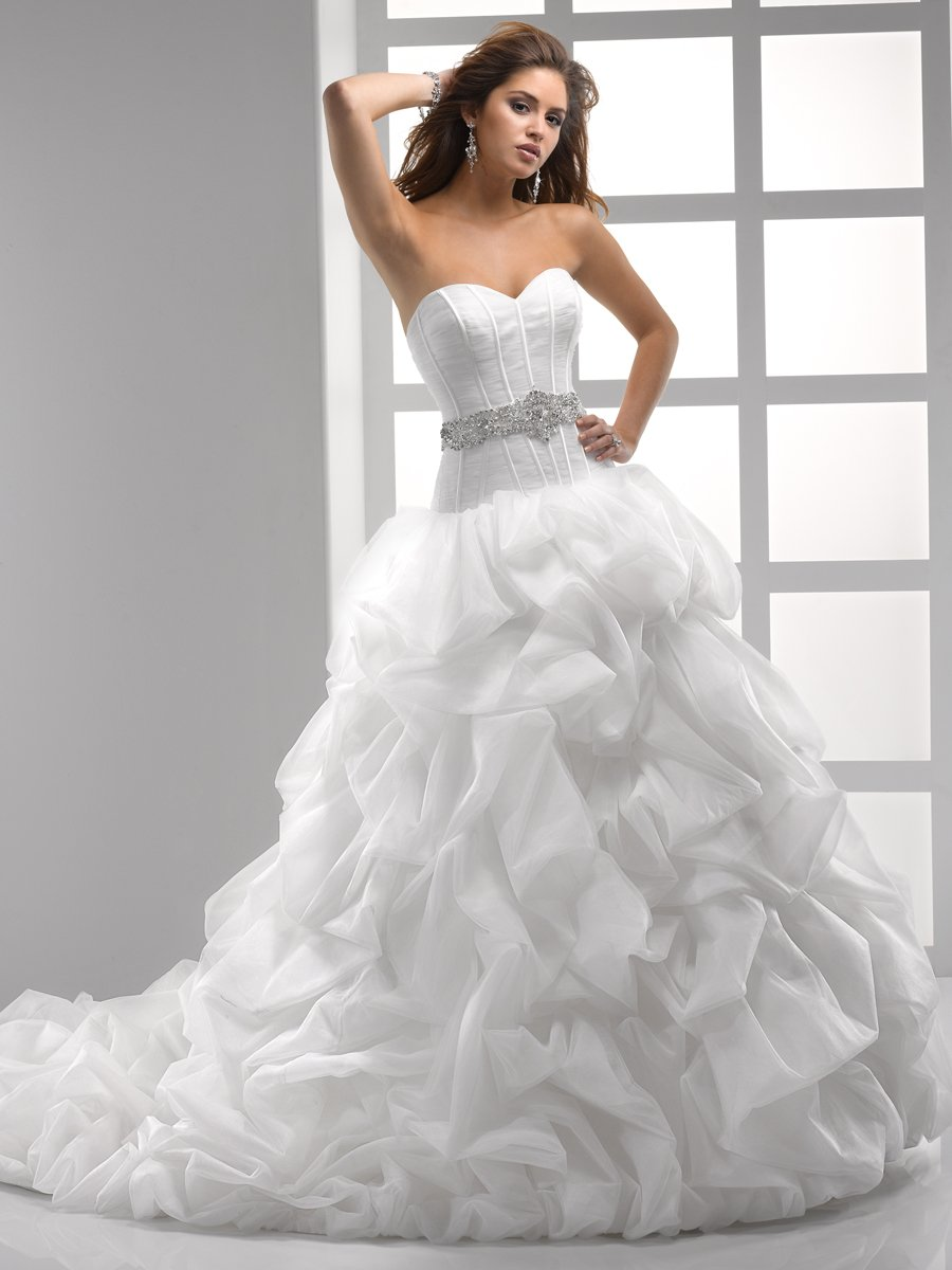 Wedding Dresses, Sweetheart Wedding Dresses, Ball Gown Wedding Dresses, Ruffled Wedding Dresses, Hollywood Glam Wedding Dresses, Fashion, white, ivory, Sweetheart, Strapless, Strapless Wedding Dresses, Beading, Floor, Organza, Ruffles, Pick-ups, Sleeveless, Ruching, Ball gown, Sottero & Midgley, Sash/Belt, hollywood glam, Beaded Wedding Dresses, organza wedding dresses, Floor Wedding Dresses, Sash Wedding Dresses, Belt Wedding Dresses