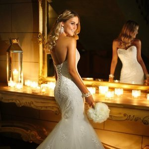 Wedding Dresses, Sweetheart Wedding Dresses, Mermaid Wedding Dresses, Lace Wedding Dresses, Fashion, ivory, Summer, Classic, Vineyard, Garden, Lace, Sweetheart, Strapless, Strapless Wedding Dresses, Beading, Floor, Formal, Fit-n-Flare, Beaded Wedding Dresses, Classic Wedding Dresses, Stella York, Formal Wedding Dresses, Summer Wedding Dresses, Floor Wedding Dresses