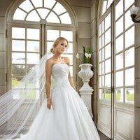 Wedding Dresses, A-line Wedding Dresses, Ball Gown Wedding Dresses, Lace Wedding Dresses, Fashion, white, ivory, Summer, Classic, Lace, Strapless, Strapless Wedding Dresses, A-line, Beading, Floor, Formal, Organza, Ballroom, Ball gown, Beaded Wedding Dresses, organza wedding dresses, Classic Wedding Dresses, Stella York, Formal Wedding Dresses, Summer Wedding Dresses, Floor Wedding Dresses