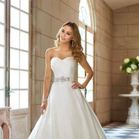 Wedding Dresses, Sweetheart Wedding Dresses, A-line Wedding Dresses, Ball Gown Wedding Dresses, Hollywood Glam Wedding Dresses, Fashion, white, Classic, Sweetheart, Strapless, Strapless Wedding Dresses, A-line, Beading, Floor, Formal, Organza, Natural, Ballroom, Ruching, Ball gown, Sash/Belt, hollywood glam, modern space, Beaded Wedding Dresses, organza wedding dresses, Classic Wedding Dresses, Stella York, Formal Wedding Dresses, Floor Wedding Dresses, Sash Wedding Dresses, Belt Wedding Dresses