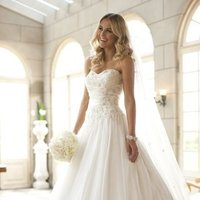 Wedding Dresses, Sweetheart Wedding Dresses, A-line Wedding Dresses, Ball Gown Wedding Dresses, Fashion, ivory, Sweetheart, Strapless, Strapless Wedding Dresses, A-line, Beading, Floor, Formal, Organza, Ballroom, Ruching, Ball gown, Sash/Belt, Beaded Wedding Dresses, organza wedding dresses, Stella York, Formal Wedding Dresses, Floor Wedding Dresses, Sash Wedding Dresses, Belt Wedding Dresses
