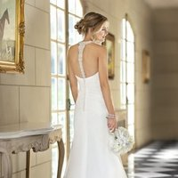 Wedding Dresses, Sweetheart Wedding Dresses, Mermaid Wedding Dresses, Romantic Wedding Dresses, Fashion, white, Vineyard, Garden, Romantic, Sweetheart, Spaghetti straps, Beading, Floor, Chiffon, Sleeveless, Ruching, Fit-n-Flare, illusion sleeves, Beaded Wedding Dresses, Stella York, Spahetti Strap Wedding Dresses, Chiffon Wedding Dresses, Floor Wedding Dresses