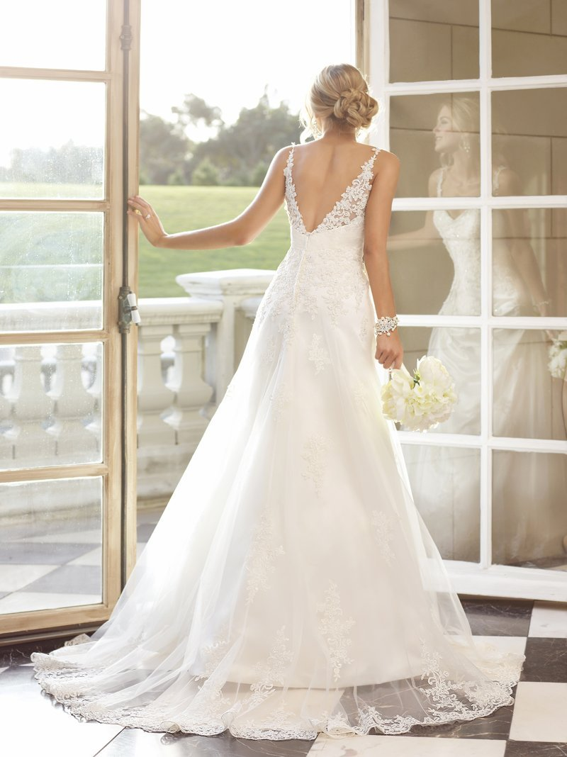 Wedding Dresses, Sweetheart Wedding Dresses, A-line Wedding Dresses, Lace Wedding Dresses, Romantic Wedding Dresses, Fashion, white, ivory, Vineyard, Garden, Romantic, Lace, Sweetheart, A-line, Spaghetti straps, Beading, Satin, Floor, Beaded Wedding Dresses, Stella York, satin wedding dresses, Spahetti Strap Wedding Dresses, Floor Wedding Dresses