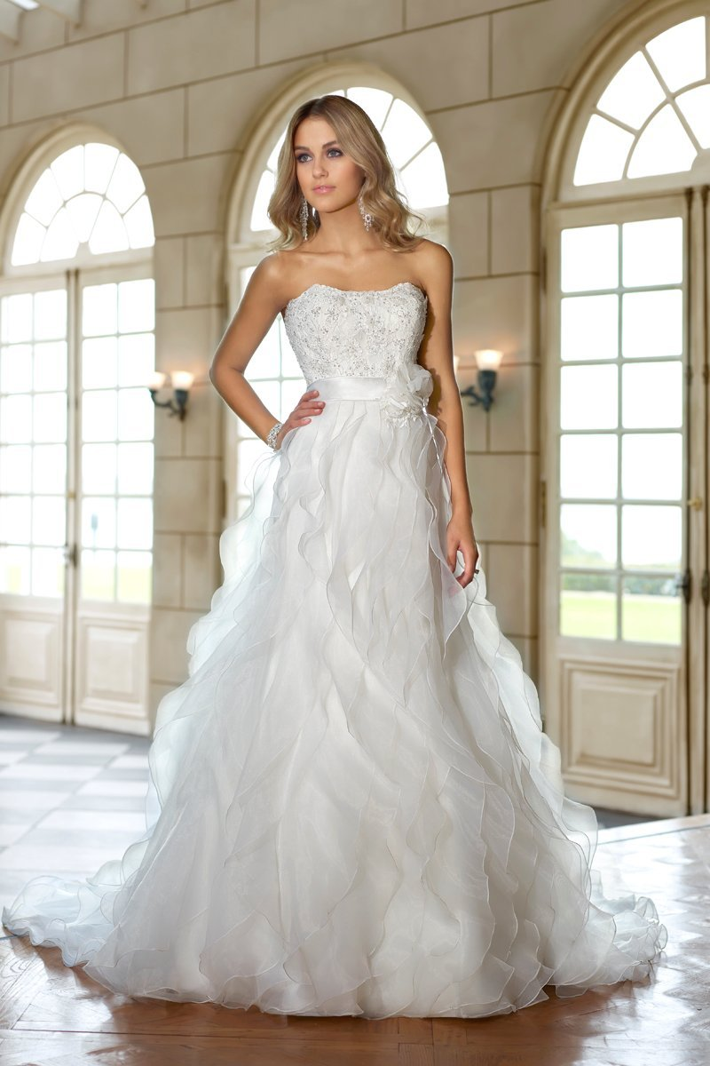 Stella York, Wedding Dresses, Fashion, A-line, Beading, Boho Chic, Floor, Flowers, Garden, ivory, Lace, Organza, Romantic, Ruffles, Sash/Belt, Strapless, Sweetheart, white, Strapless Wedding Dresses, Sweetheart Wedding Dresses, Floor Wedding Dresses, Beaded Wedding Dresses, Flower Wedding Dresses, Ruffled Wedding Dresses, Sash Wedding Dresses, Belt Wedding Dresses, Lace Wedding Dresses, organza wedding dresses, Boho Chic Wedding Dresses, Romantic Wedding Dresses, A-line Wedding Dresses