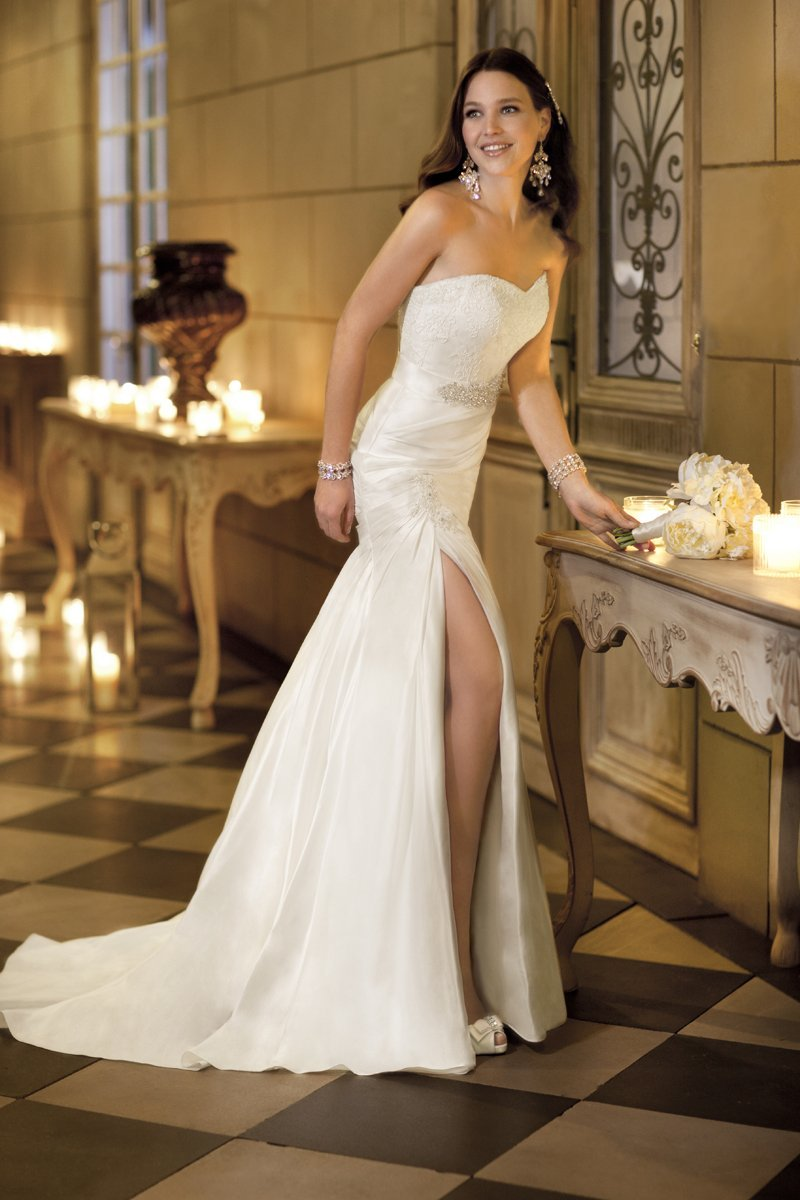 Wedding Dresses, Lace Wedding Dresses, Romantic Wedding Dresses, Fashion, white, ivory, Summer, Vineyard, Garden, Romantic, Lace, Strapless, Strapless Wedding Dresses, Beading, Sheath, Floor, Taffeta, Sweethear, Sash/Belt, Beaded Wedding Dresses, taffeta wedding dresses, Stella York, Sheath Wedding Dresses, Summer Wedding Dresses, Floor Wedding Dresses, Sash Wedding Dresses, Belt Wedding Dresses