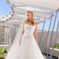 Wedding Dresses, Sweetheart Wedding Dresses, Ball Gown Wedding Dresses, Lace Wedding Dresses, Fashion, white, ivory, Classic, Lace, Sweetheart, Strapless, Strapless Wedding Dresses, Beading, Floor, Formal, Organza, Natural, Sleeveless, Ruching, Ball gown, Beaded Wedding Dresses, organza wedding dresses, Classic Wedding Dresses, Stella York, Formal Wedding Dresses, Floor Wedding Dresses