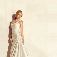 Wedding Dresses, One-Shoulder Wedding Dresses, A-line Wedding Dresses, Mermaid Wedding Dresses, Fashion, white, ivory, silver, Flowers, Shabby Chic, Boho Chic, A-line, Satin, Floor, Formal, Organza, Dropped, Sleeveless, Ruching, One-shoulder, Fit-n-Flare, organza wedding dresses, Boho Chic Wedding Dresses, Stella York, satin wedding dresses, Flower Wedding Dresses, Formal Wedding Dresses, Floor Wedding Dresses, Shabby Chic Wedding Dresses