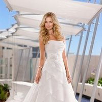 Wedding Dresses, A-line Wedding Dresses, Romantic Wedding Dresses, Fashion, white, ivory, Modern, Square, Flowers, Romantic, A-line, Empire, Satin, Floor, Formal, Organza, Pleats, Sleeveless, Ruching, Sash/Belt, Modern Wedding Dresses, organza wedding dresses, Stella York, satin wedding dresses, Flower Wedding Dresses, Square Neckline Wedding Dresses, Formal Wedding Dresses, Floor Wedding Dresses, Sash Wedding Dresses, Belt Wedding Dresses