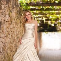 Stella York, Wedding Dresses, Fashion, A-line, Beading, Dropped, Floor, Formal, ivory, Modern, Pick-up, Pleats, Romantic, Ruching, Strapless, Sash/Belt, Satin, silver, Square, Sleeveless, Square Neckline Wedding Dresses, Strapless Wedding Dresses, Floor Wedding Dresses, Beaded Wedding Dresses, Sash Wedding Dresses, Belt Wedding Dresses, satin wedding dresses, Formal Wedding Dresses, Modern Wedding Dresses, Romantic Wedding Dresses, A-line Wedding Dresses