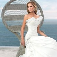 Wedding Dresses, One-Shoulder Wedding Dresses, A-line Wedding Dresses, Ruffled Wedding Dresses, Romantic Wedding Dresses, Fashion, white, ivory, Modern, Romantic, A-line, Beading, Floor, Formal, Organza, Ruffles, Dropped, Sleeveless, Ruching, One-shoulder, Modern Wedding Dresses, Beaded Wedding Dresses, organza wedding dresses, Stella York, Formal Wedding Dresses, Floor Wedding Dresses