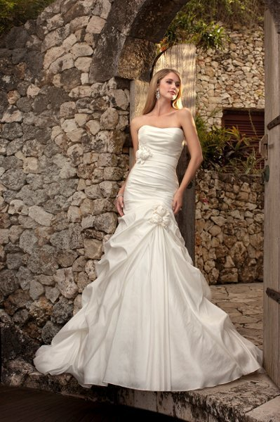 Wedding Dresses, Mermaid Wedding Dresses, Romantic Wedding Dresses, Fashion, white, Modern, Flowers, Romantic, Strapless, Strapless Wedding Dresses, Floor, Formal, Scoop, Dropped, Taffeta, Sleeveless, Ruching, Mermaid/Trumpet, Sash/Belt, Fit-n-Flare, pickups, Modern Wedding Dresses, taffeta wedding dresses, trumpet wedding dresses, Stella York, Flower Wedding Dresses, Formal Wedding Dresses, Scoop Neckline Wedding Dresses, Floor Wedding Dresses, Sash Wedding Dresses, Belt Wedding Dresses
