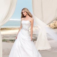 Wedding Dresses, A-line Wedding Dresses, Fashion, ivory, Classic, Flowers, Strapless, Strapless Wedding Dresses, A-line, Beading, Floor, Formal, Organza, Natural, Scoop, Modest, Sleeveless, Ruching, Sash/Belt, Beaded Wedding Dresses, organza wedding dresses, Classic Wedding Dresses, Stella York, Flower Wedding Dresses, Formal Wedding Dresses, Scoop Neckline Wedding Dresses, Floor Wedding Dresses, Modest Wedding Dresses, Sash Wedding Dresses, Belt Wedding Dresses