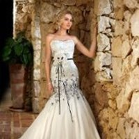 Wedding Dresses, Sweetheart Wedding Dresses, Mermaid Wedding Dresses, Lace Wedding Dresses, Fashion, white, ivory, black, Modern, Lace, Sweetheart, Strapless, Strapless Wedding Dresses, Floor, Formal, Organza, Natural, Sleeveless, Mermaid/Trumpet, Sash/Belt, Modern Wedding Dresses, organza wedding dresses, trumpet wedding dresses, Stella York, Formal Wedding Dresses, Floor Wedding Dresses, Sash Wedding Dresses, Belt Wedding Dresses