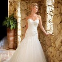 Wedding Dresses, Sweetheart Wedding Dresses, Mermaid Wedding Dresses, Lace Wedding Dresses, Romantic Wedding Dresses, Fashion, ivory, Classic, Romantic, Lace, Sweetheart, Strapless, Strapless Wedding Dresses, Floor, Formal, Dropped, Pleats, Sleeveless, Mermaid/Trumpet, trumpet wedding dresses, Classic Wedding Dresses, Stella York, tulle white, Formal Wedding Dresses, Floor Wedding Dresses