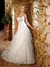 Wedding Dresses, Sweetheart Wedding Dresses, A-line Wedding Dresses, Ruffled Wedding Dresses, Romantic Wedding Dresses, Fashion, white, ivory, Modern, Romantic, Sweetheart, Strapless, Strapless Wedding Dresses, A-line, Beading, Floor, Formal, Organza, Ruffles, Dropped, Sleeveless, Modern Wedding Dresses, Beaded Wedding Dresses, organza wedding dresses, Stella York, Formal Wedding Dresses, Floor Wedding Dresses