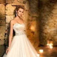 Wedding Dresses, A-line Wedding Dresses, Romantic Wedding Dresses, Fashion, white, ivory, Classic, Romantic, Strapless, Strapless Wedding Dresses, A-line, Beading, Empire, Satin, Floor, Formal, Sleeveless, Sash/Belt, Beaded Wedding Dresses, Classic Wedding Dresses, Stella York, sweethearttulle, satin wedding dresses, Formal Wedding Dresses, Floor Wedding Dresses, Sash Wedding Dresses, Belt Wedding Dresses