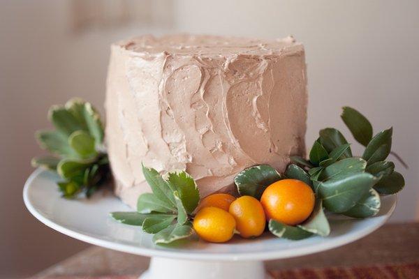 Cakes, ivory, orange, Round Wedding Cakes, Wedding Cakes, Summer Weddings, Boho Chic Weddings, Rustic Weddings
