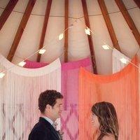Flowers & Decor, white, orange, pink, Summer Weddings, Boho Chic Weddings, Rustic Weddings, Boho Chic Wedding Flowers & Decor