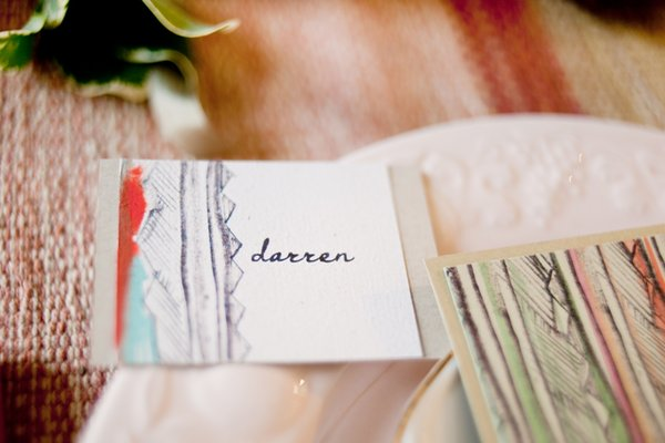 Stationery, red, Place Cards, Summer Weddings, Boho Chic Weddings, Rustic Weddings