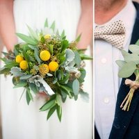 Flowers & Decor, yellow, green, Bride Bouquets, Boutonnieres, Summer Weddings, Boho Chic Weddings, Rustic Weddings, Rustic Wedding Flowers & Decor, Summer Wedding Flowers & Decor