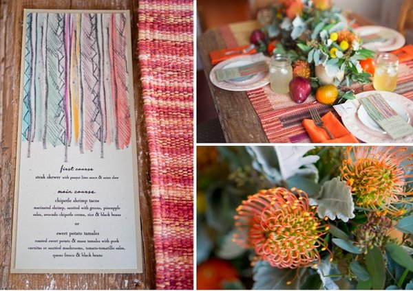 Flowers & Decor, Stationery, orange, Summer Weddings, Boho Chic Weddings, Rustic Weddings, Rustic Wedding Flowers & Decor, Summer Wedding Flowers & Decor, Boho Chic Wedding Flowers & Decor