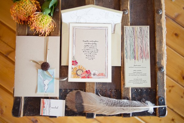 Stationery, brown, Place Cards, Menu Cards, Summer Weddings, Boho Chic Weddings, Rustic Weddings, Rustic Wedding Flowers & Decor, Boho Chic Wedding Invitations